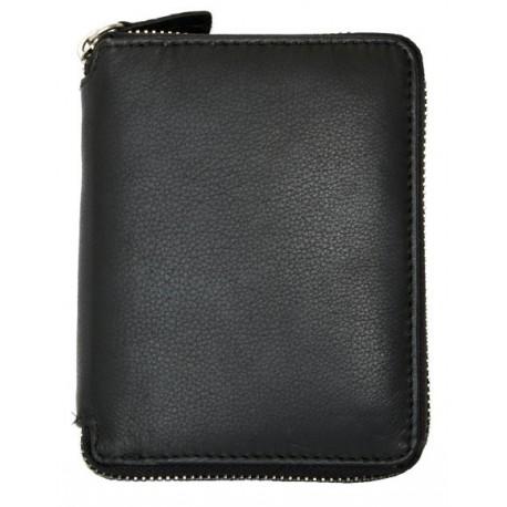 Kožená peněženka z kvalitní měkké kůže dokola na zip