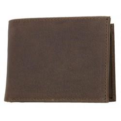 Kožená peněženka z pevné přírodní broušené kůže