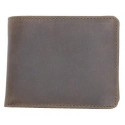 Kompaktní peněženka z pevné přírodní kůže bez značek a nápisů