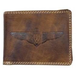 Celokožená peněženka Pedro z přírodní pevné kůže s křídlem